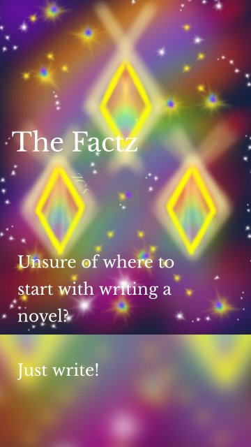 The Factz Unsure of where to start with writing a novel? Just write!