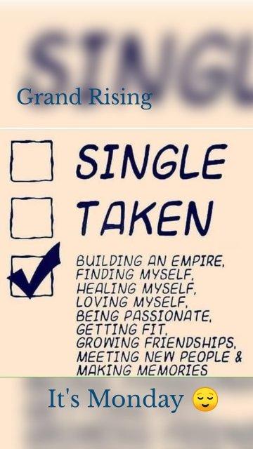 Grand Rising It's Monday 😌